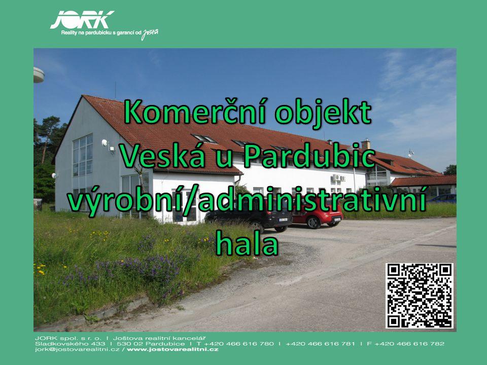 Komerční objekt - hala Veská u Pardubic - pro výrobní / administrativní využití.