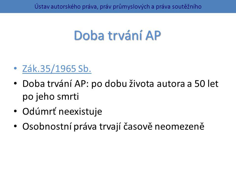 Doba trvání AP Zák.35/1965 Sb.