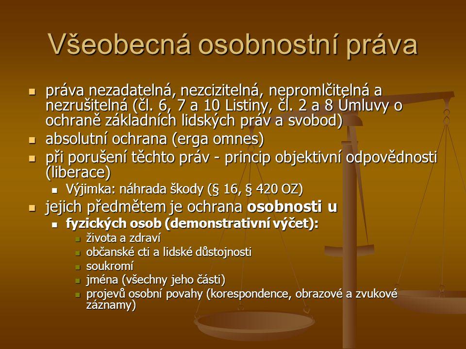 Předměty obč.pr.