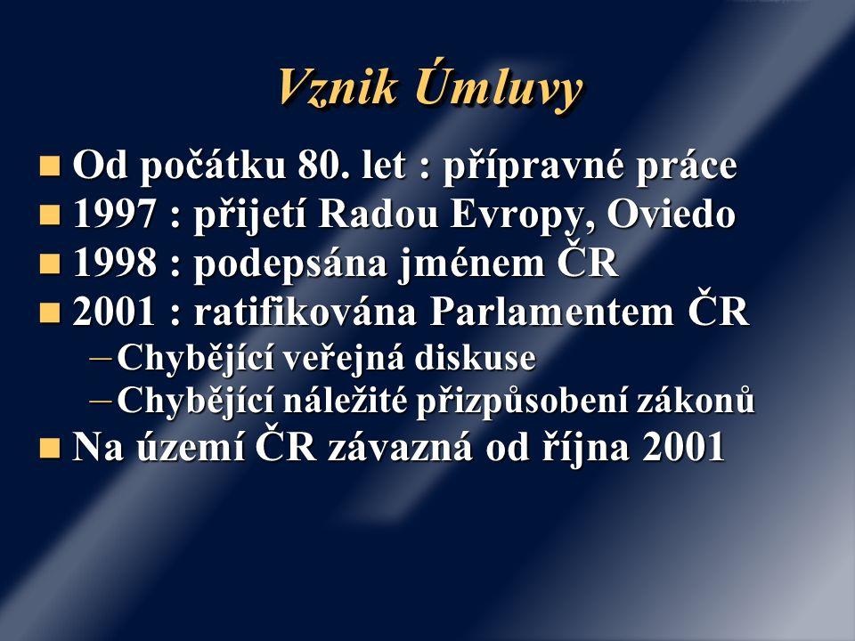 Vznik Úmluvy Od počátku 80.let : přípravné práce Od počátku 80.