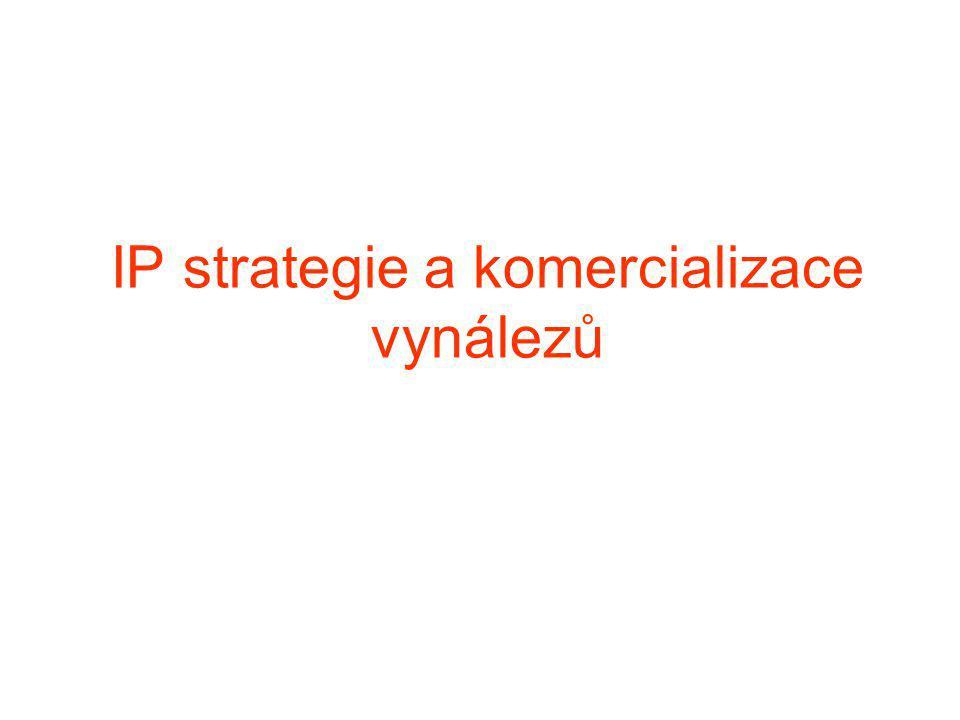 IP strategie a komercializace vynálezů