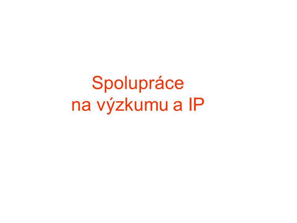Spolupráce na výzkumu a IP