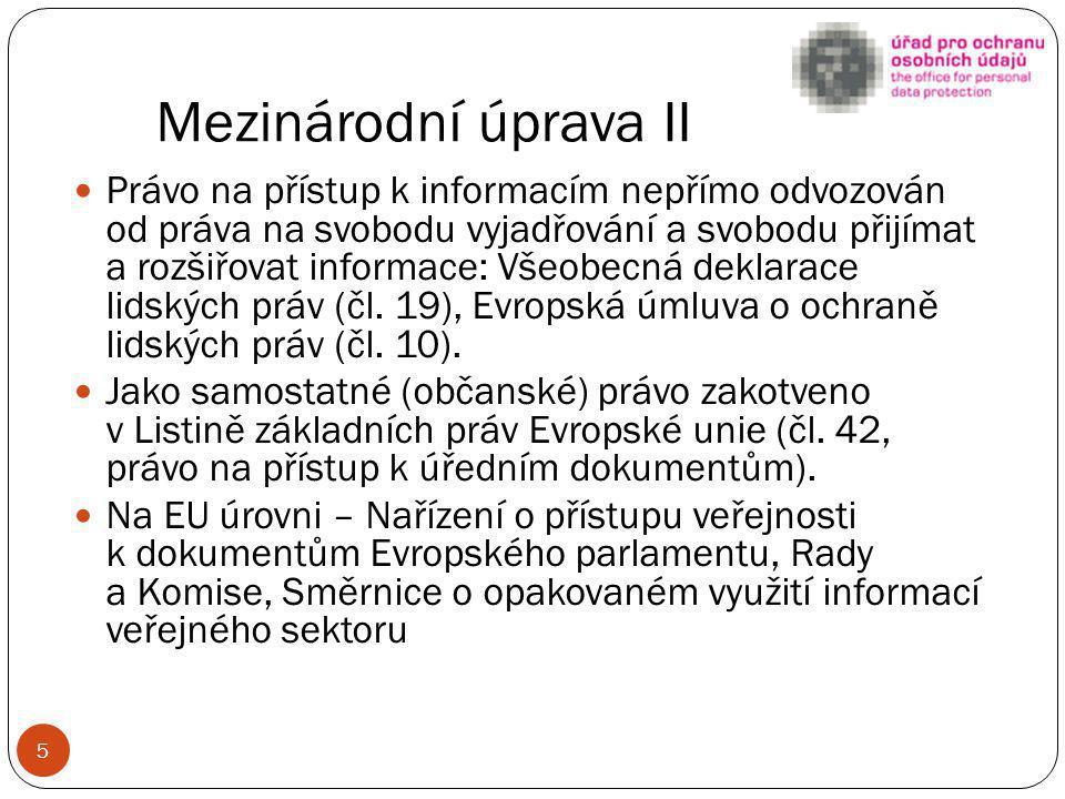 Ústavní úroveň Listina základních práv a svobod: Čl.