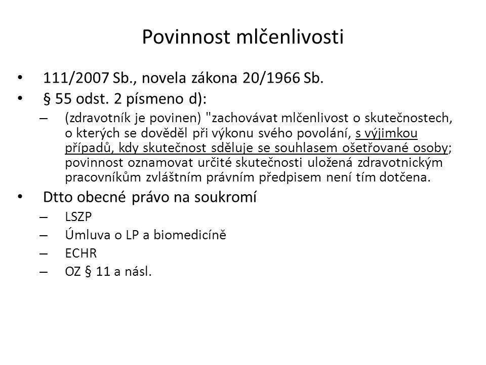 Vedení zdravotnické dokumentace §67b odst. 7) a 8) – Elektronická zdravotnická dokumentace – Pokud se vede zdravotnická dokumentace pouze na paměťovýc
