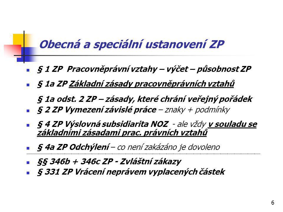 17 Čerpání a krácení dovolené Čerpání dovolené - pravidla - § 217 a násl.