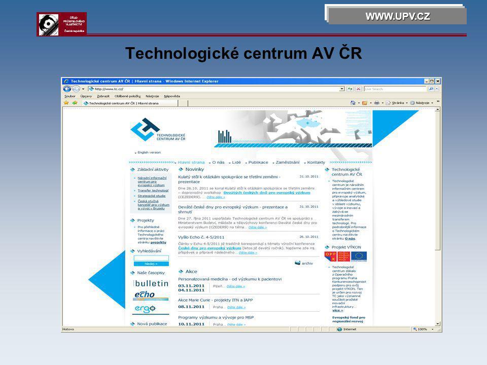 Jihomoravské inovační centrum WWW.UPV.CZ ÚŘAD PRŮMYSLOVÉHO VLASTNICTVÍ Česká republika