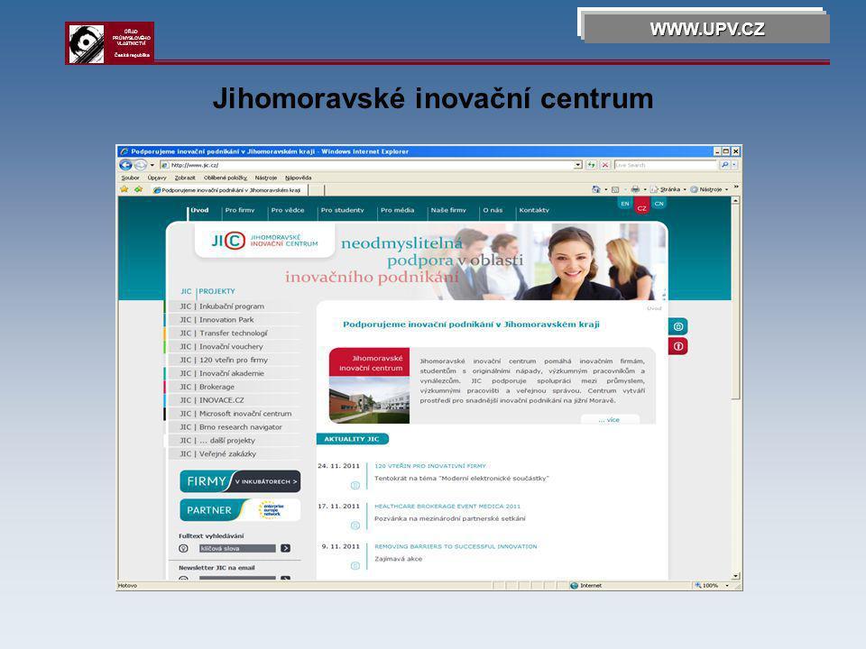 OHIM WWW.UPV.CZ ÚŘAD PRŮMYSLOVÉHO VLASTNICTVÍ Česká republika