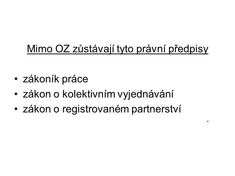 OZ zrušil 238 právních předpisů, např.Občanský zákoník č.