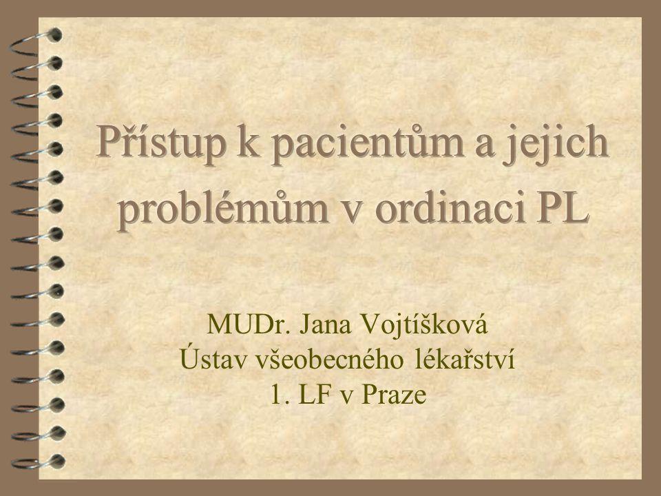 MUDr. Jana Vojtíšková Ústav všeobecného lékařství 1. LF v Praze