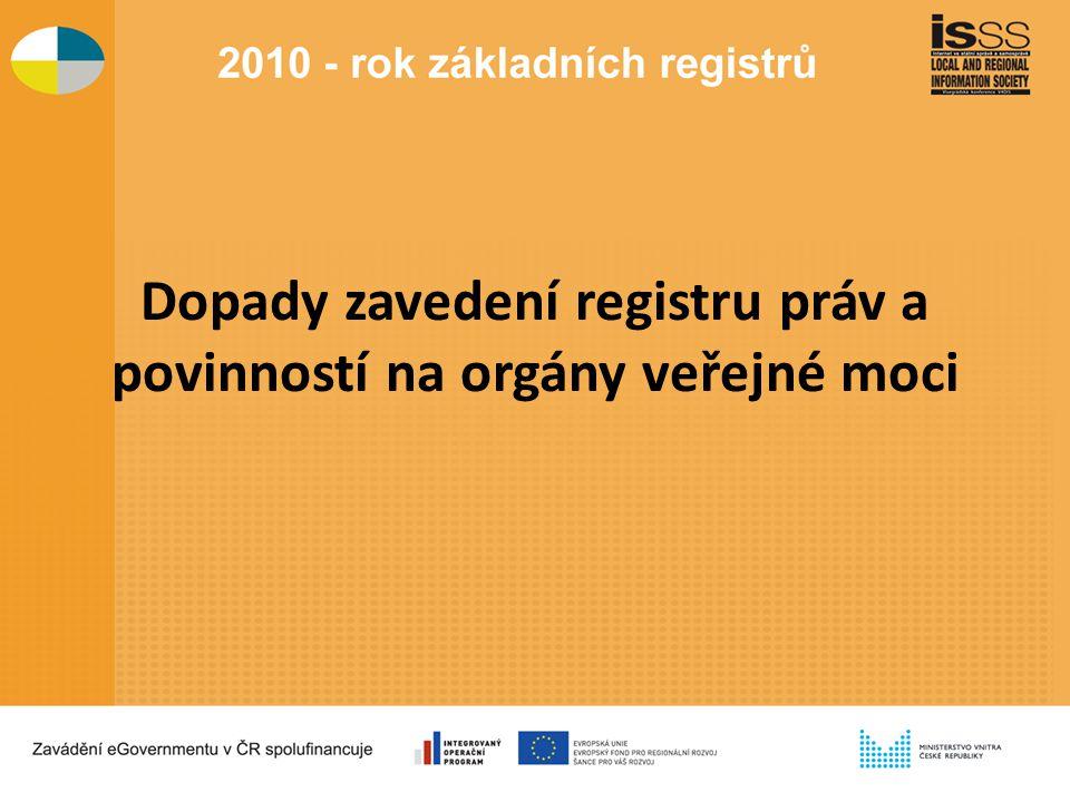 Dopady zavedení registru práv a povinností na orgány veřejné moci