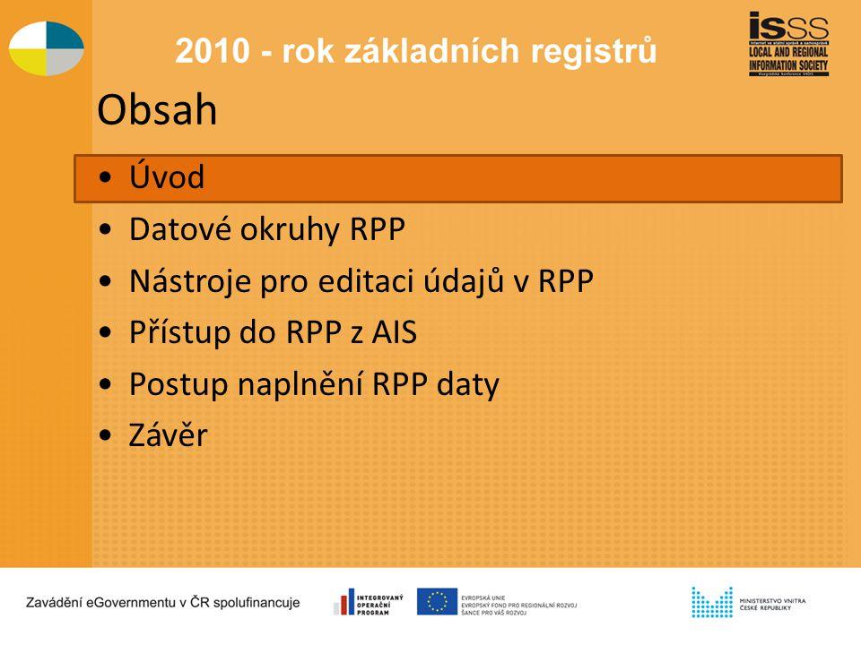 Legislativní podmínky vymezení RPP Legislativní rámec RPP Zákon č.