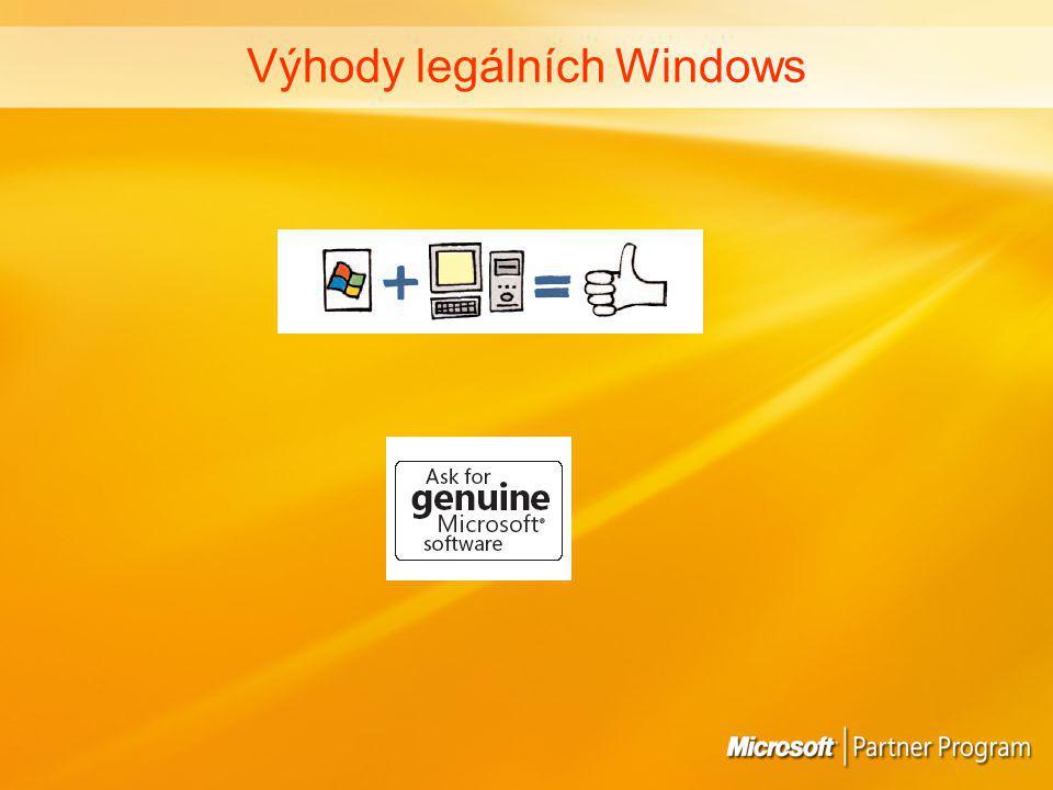 Výhody legálních Windows