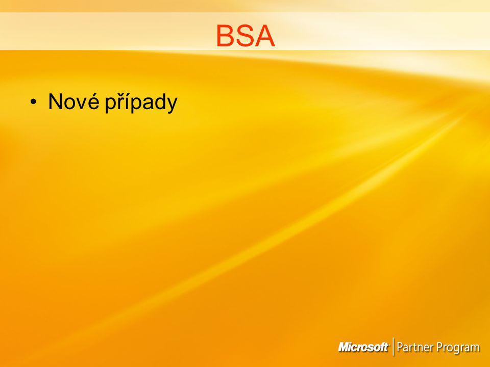 BSA Nové případy