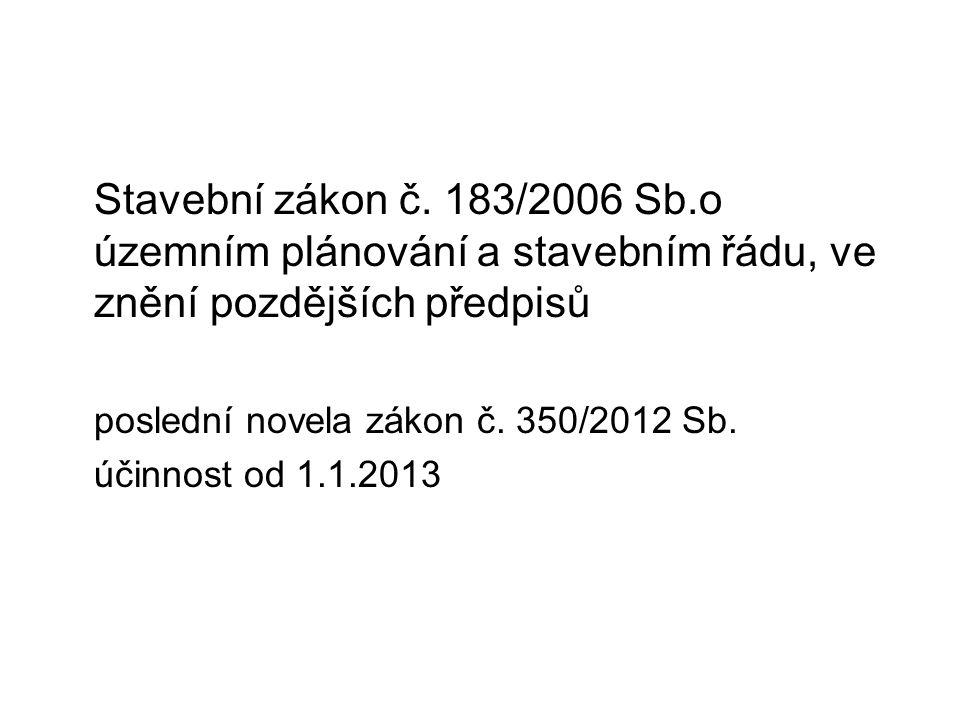 Stavební zákon č.