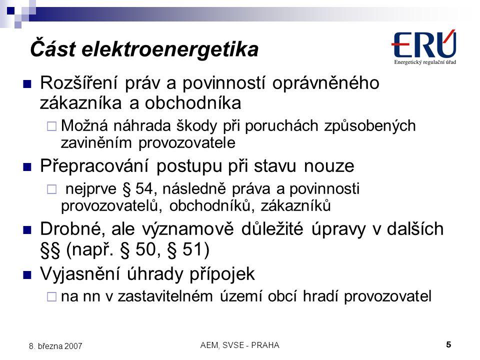 AEM, SVSE - PRAHA5 8.