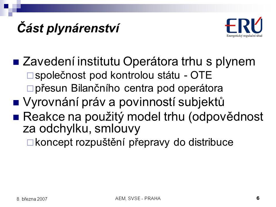AEM, SVSE - PRAHA6 8.