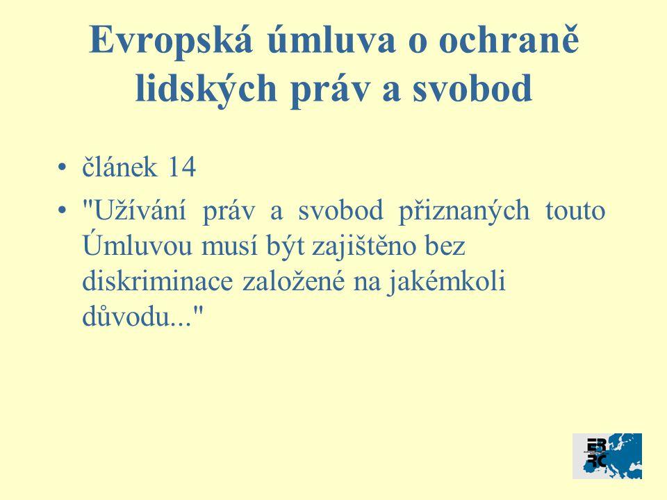Případ týkající se porušení čl.14 CASE OF NACHOVA AND OTHERS v.