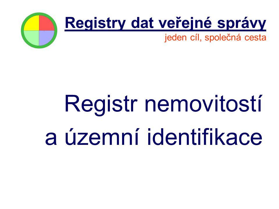 Registr nemovitostí a územní identifikace Registry dat veřejné správy jeden cíl, společná cesta