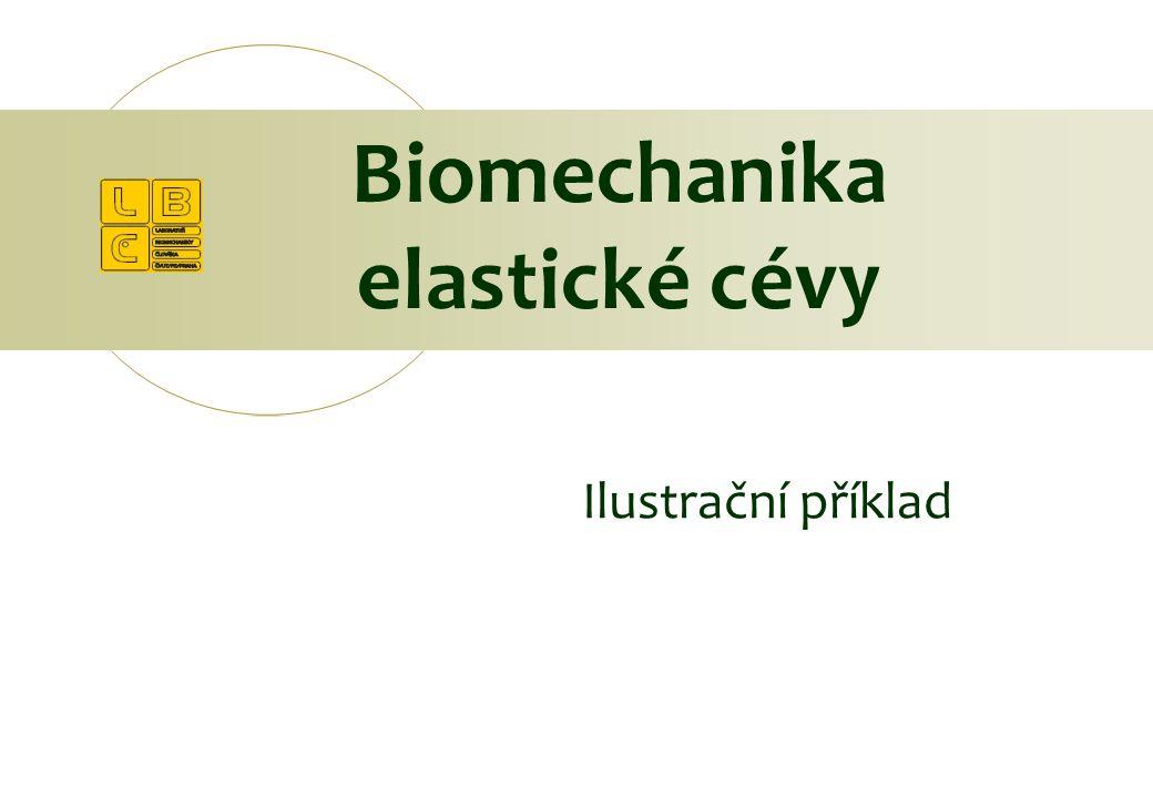 Biomechanika elastické cévy Ilustrační příklad