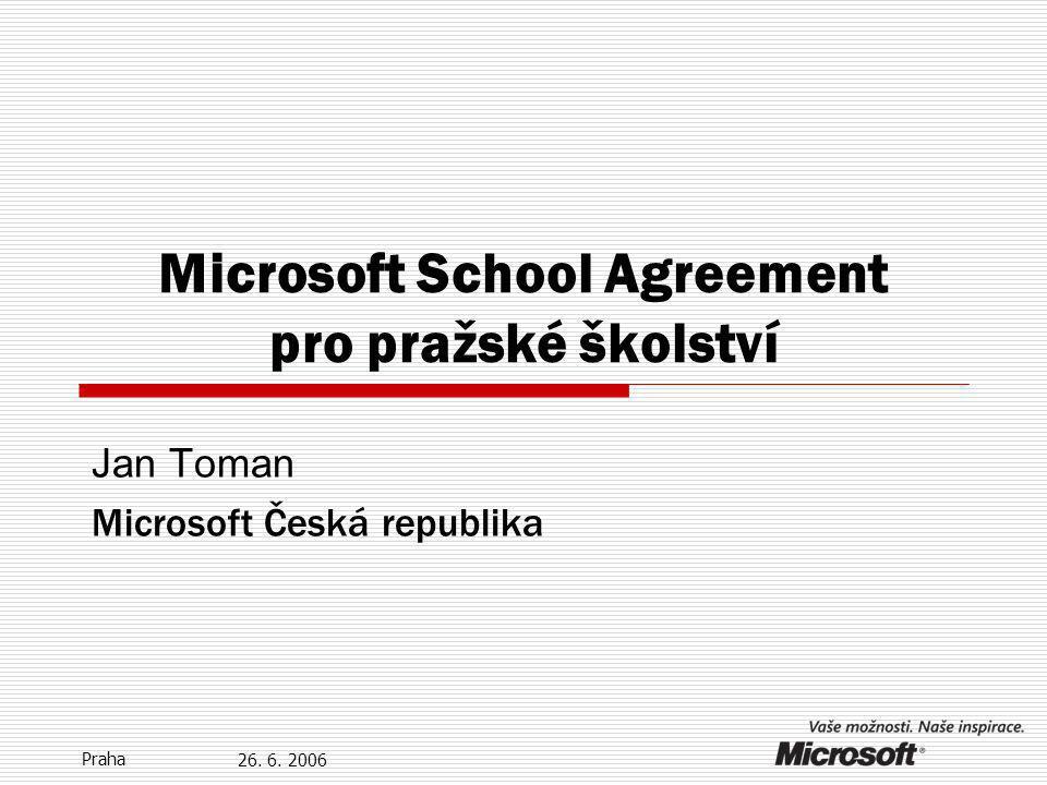 18.12.2014 Praha Výpočet PC pro School Agreement všechny Pentium II systémy a vyšší, Power Mac a iMac systémy Možnost: ostatní systémy (terminály) + Výroční počet PC