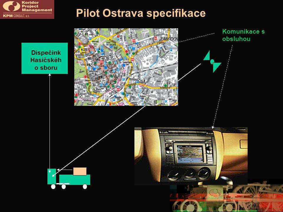 Pilot Ostrava specifikace Komunikace s obsluhou Dispečink Hasičskéh o sboru