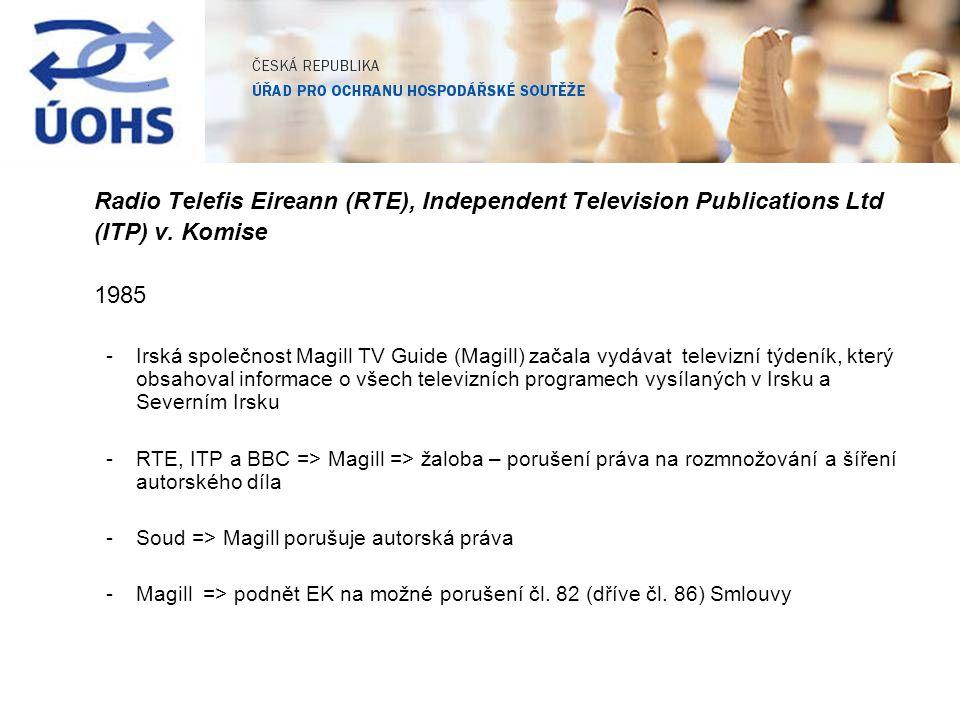 Radio Telefis Eireann (RTE), Independent Television Publications Ltd (ITP) v.
