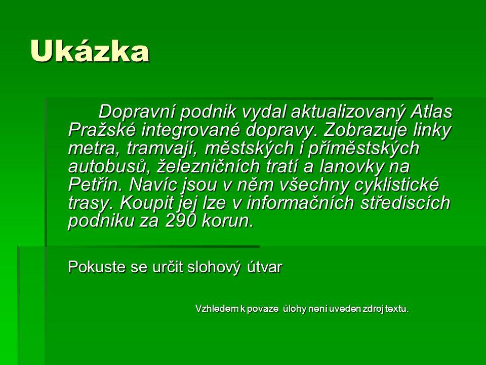 Ukázka Dopravní podnik vydal aktualizovaný Atlas Pražské integrované dopravy.