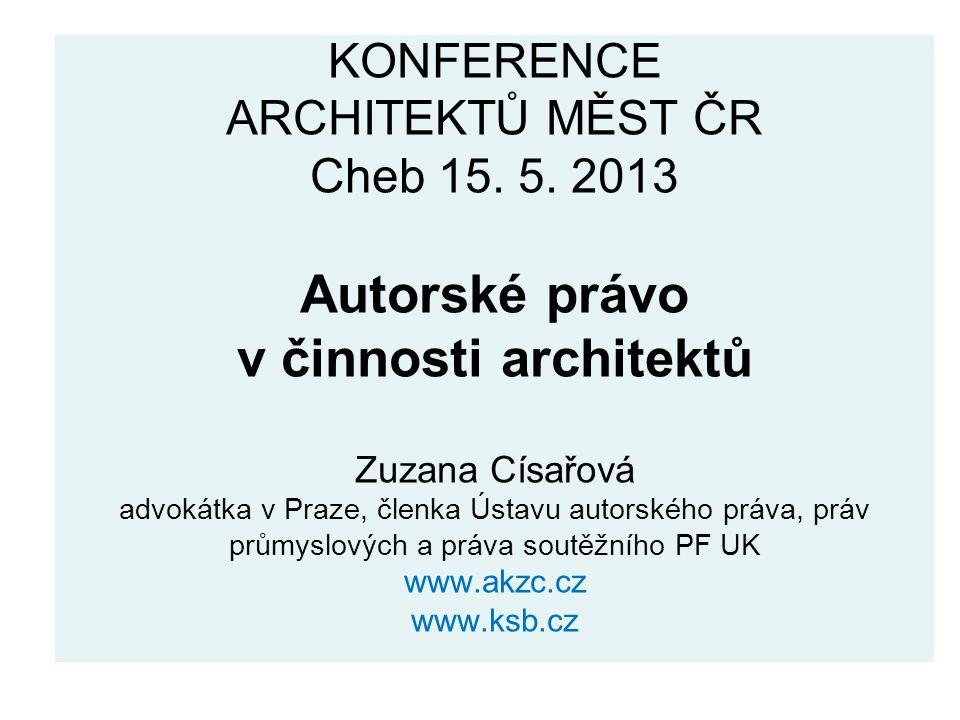 KONFERENCE ARCHITEKTŮ MĚST ČR Cheb 15. 5.