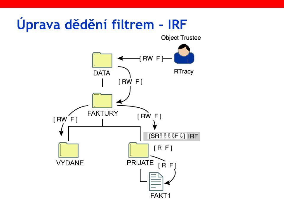 Úprava dědění filtrem - IRF