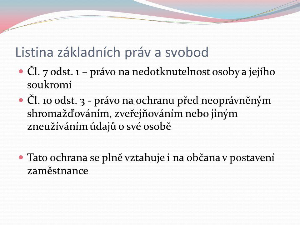 Listina základních práv a svobod Čl. 7 odst.