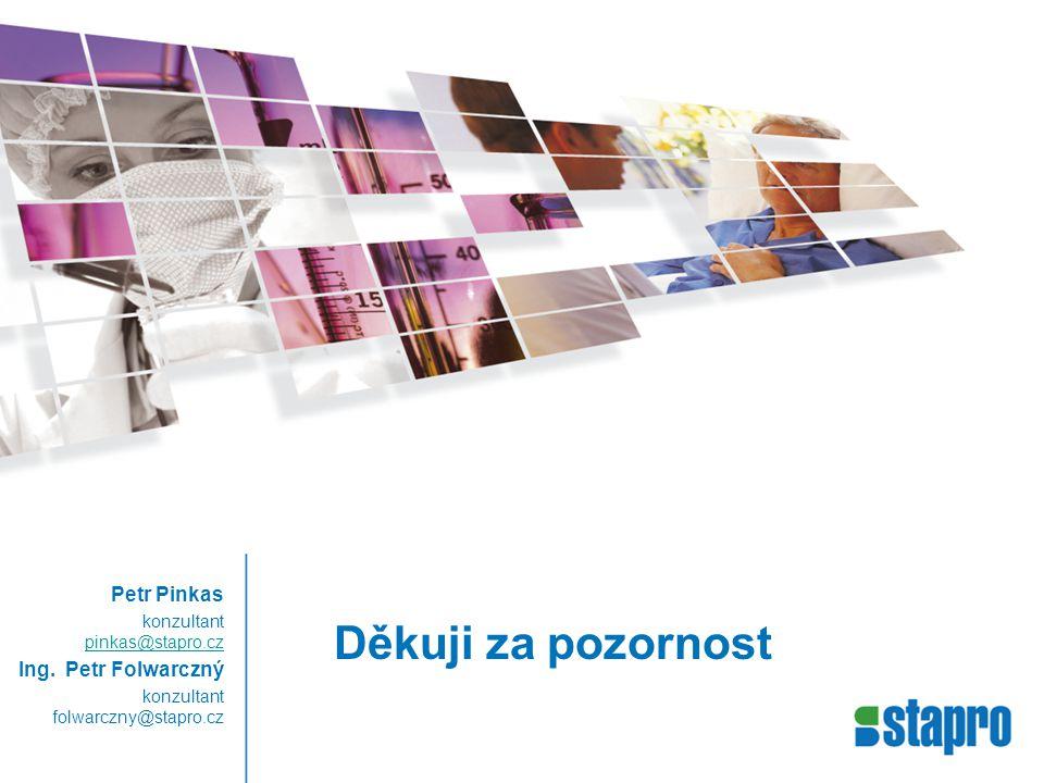 Děkuji za pozornost Petr Pinkas konzultant pinkas@stapro.cz pinkas@stapro.cz Ing.