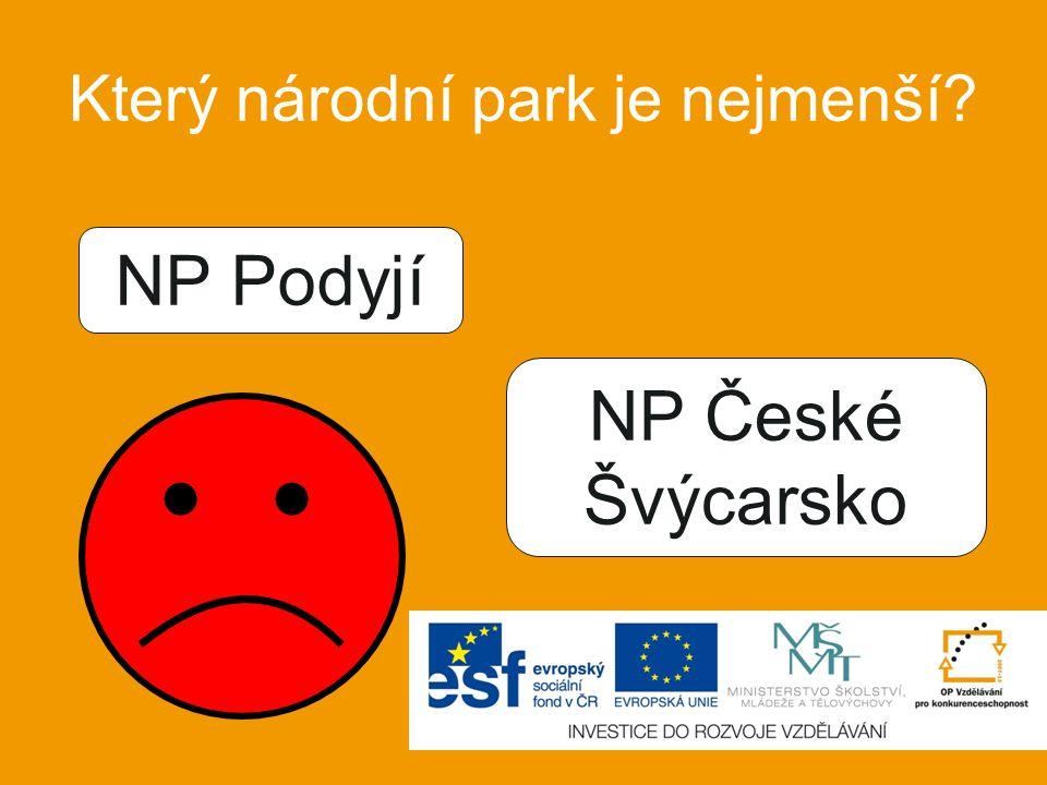 Ve kterém národním parku se nachází nejvyšší vrchol ČR? NP Šumava KRNAP