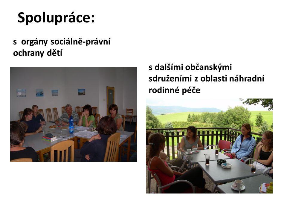 Spolupráce: s orgány sociálně-právní ochrany dětí s dalšími občanskými sdruženími z oblasti náhradní rodinné péče