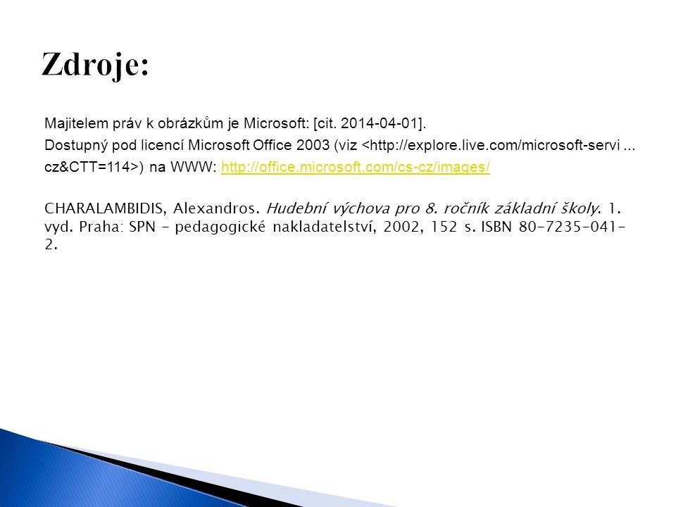 Majitelem práv k obrázkům je Microsoft: [cit. 2014-04-01].