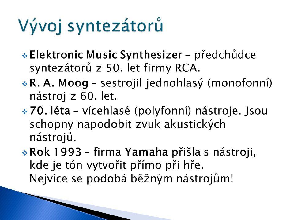  Elektronic Music Synthesizer – předchůdce syntezátorů z 50.