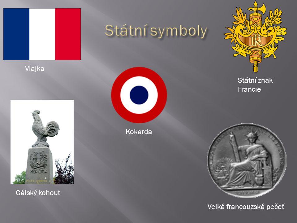 Vlajka Státní znak Francie Gálský kohout Velká francouzská pečeť Kokarda