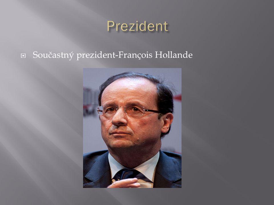  Součastný prezident-François Hollande