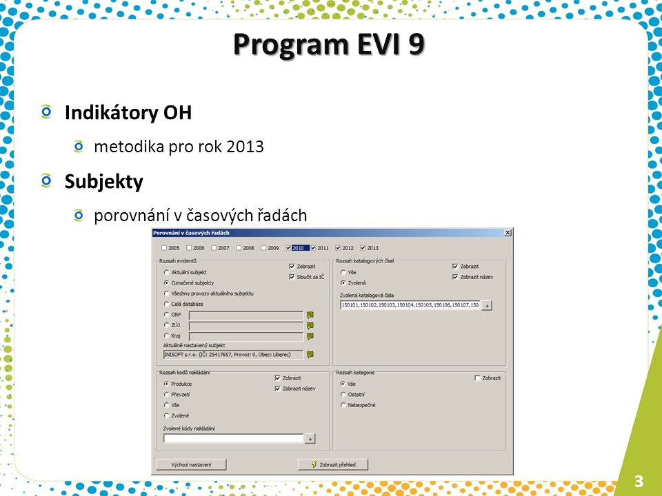 Program ESPI 9 Zařízení komunikace s novou verzí MA ISOH Spisy vlastní ukládání příloh Registrace programu on-line registrace registruje každý uživatel 4