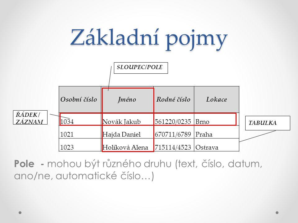 SQL – příkazy pro řízení dat GRANT – příkaz pro přidělení oprávnění uživateli k určitým objektům.