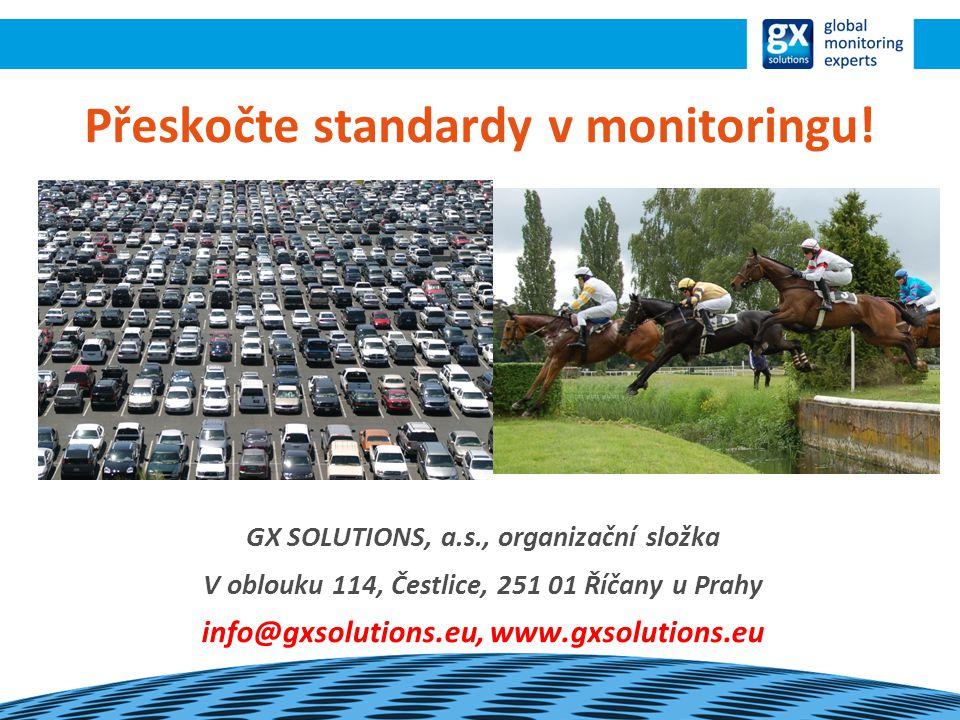 Přeskočte standardy v monitoringu.