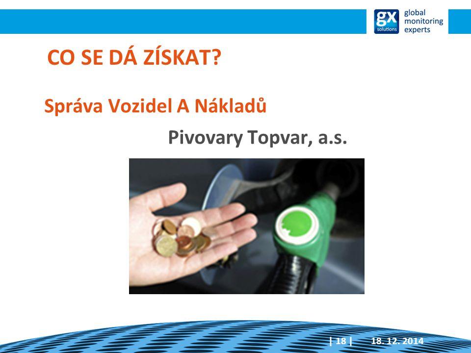 Správa Vozidel A Nákladů Pivovary Topvar, a.s. 18. 12. 2014| 18 | CO SE DÁ ZÍSKAT?