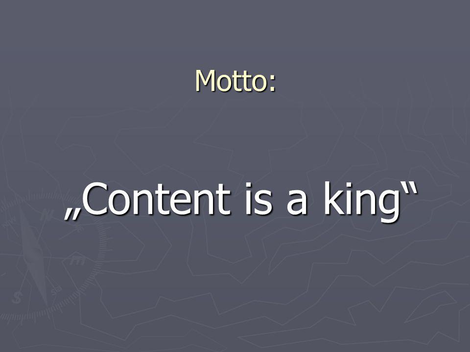 """Motto 2: """"Co je dobré pro uživatele, je dobré pro vyhledávače"""