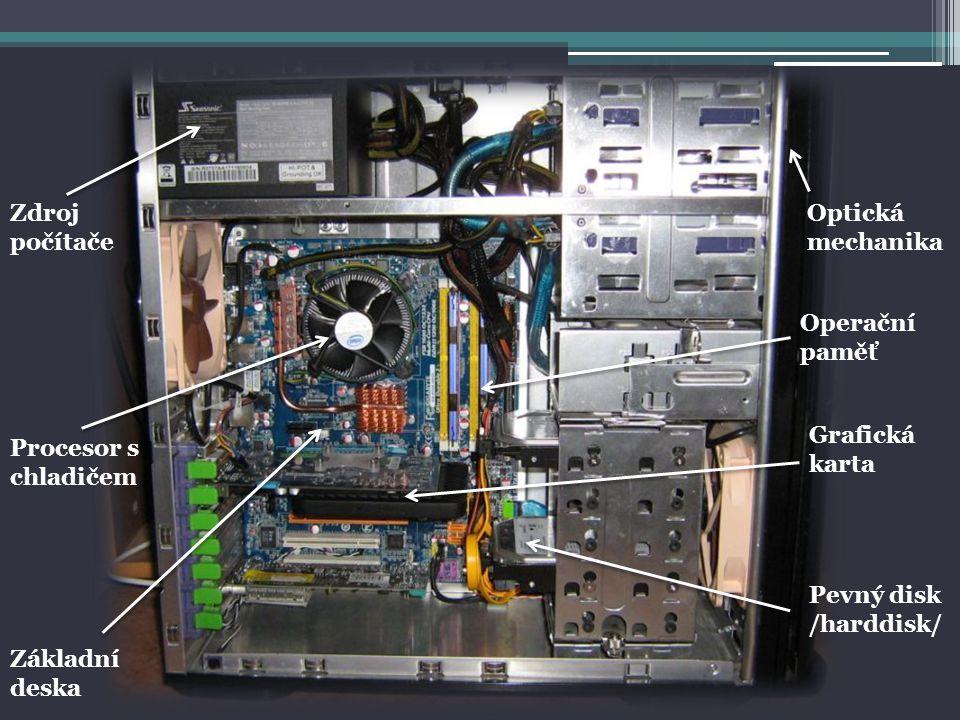 TISKÁRNY -výstupní zařízení, které slouží k přenosu dat uložených v elektronické podobě na papír -typy: laserová, inkoustová, jehličková, termální /tepelná/ - OBSAH: POČÍTAČ PC KOMPONENTY PERIFERNÍ ZAŘÍZENÍ HARDWARE SOFTWARE VON NEUMANNOVA KONCEPCE POČÍTAČE SOUSTAVY SCANNERY -je zařízení umožňující fyzické 2D převést nebo 3D předlohy do digitální podoby pro další využití v počítači -DALŠÍ PERIFERNÍ ZAŘÍZENÍ: -webkamery, sluchátka, reproduktory,….