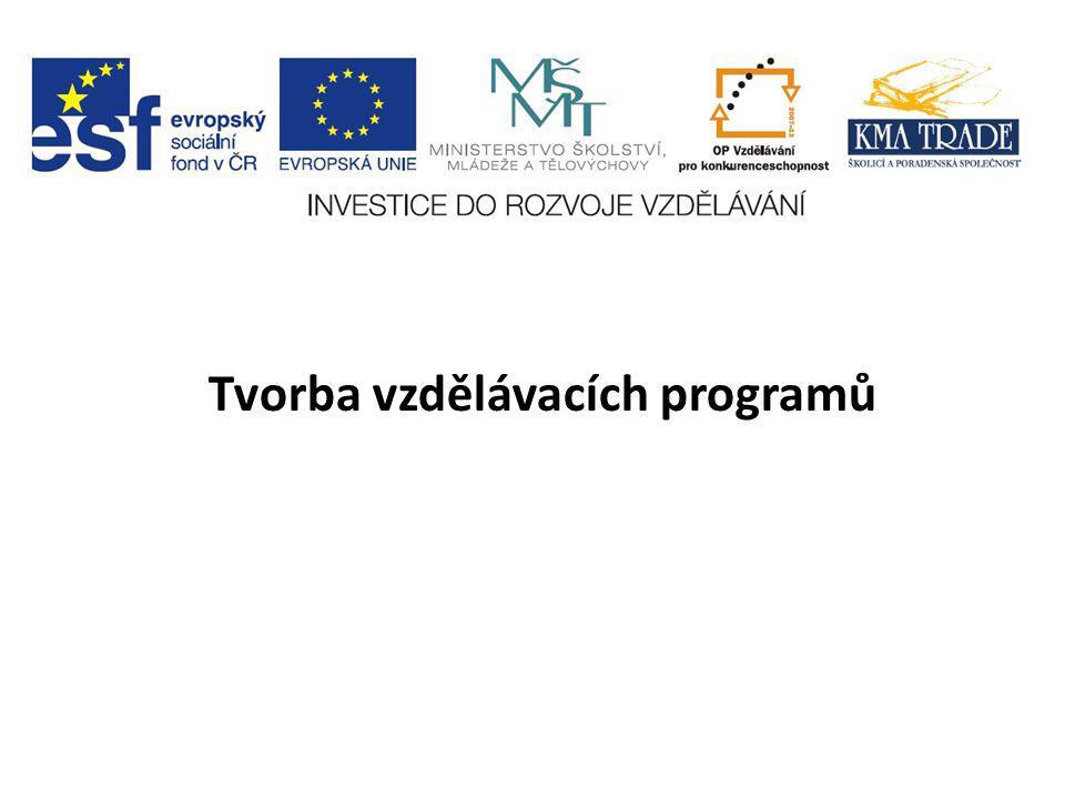 Tvorba vzdělávacích programů