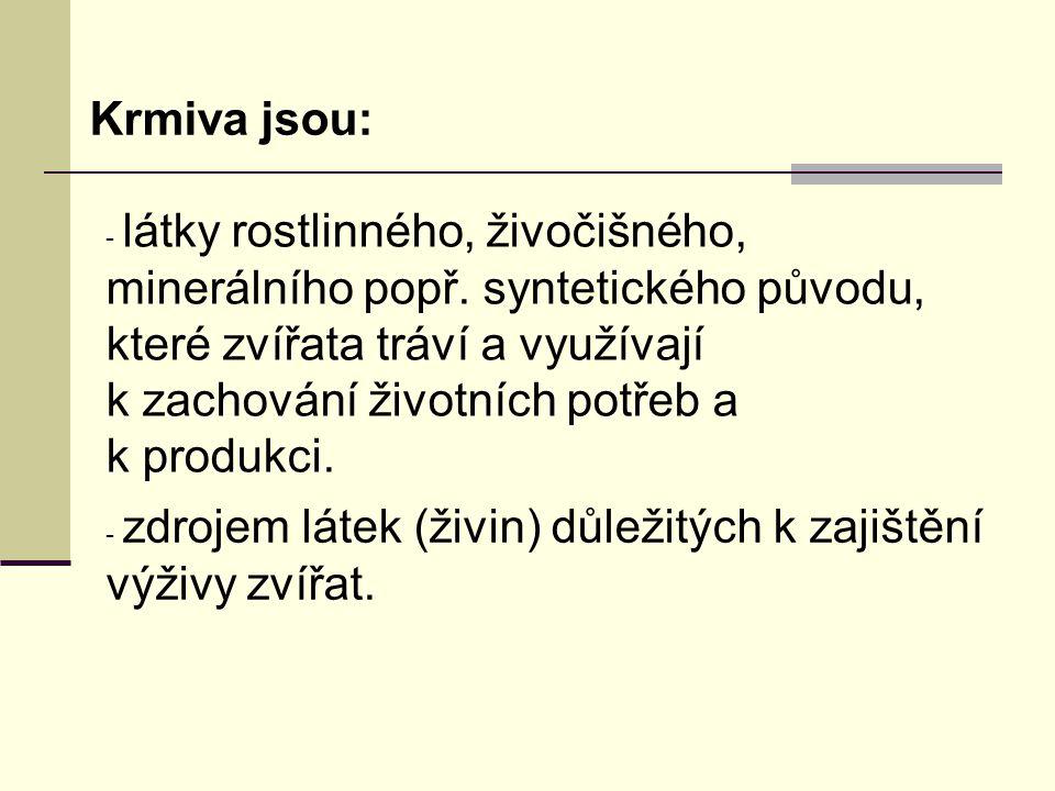 Semena luskovin Luskoviny se používají buď k přímému zkrmování nebo k výrobě krmných směsí jako zdroj dusíkatých látek( 19-25%).