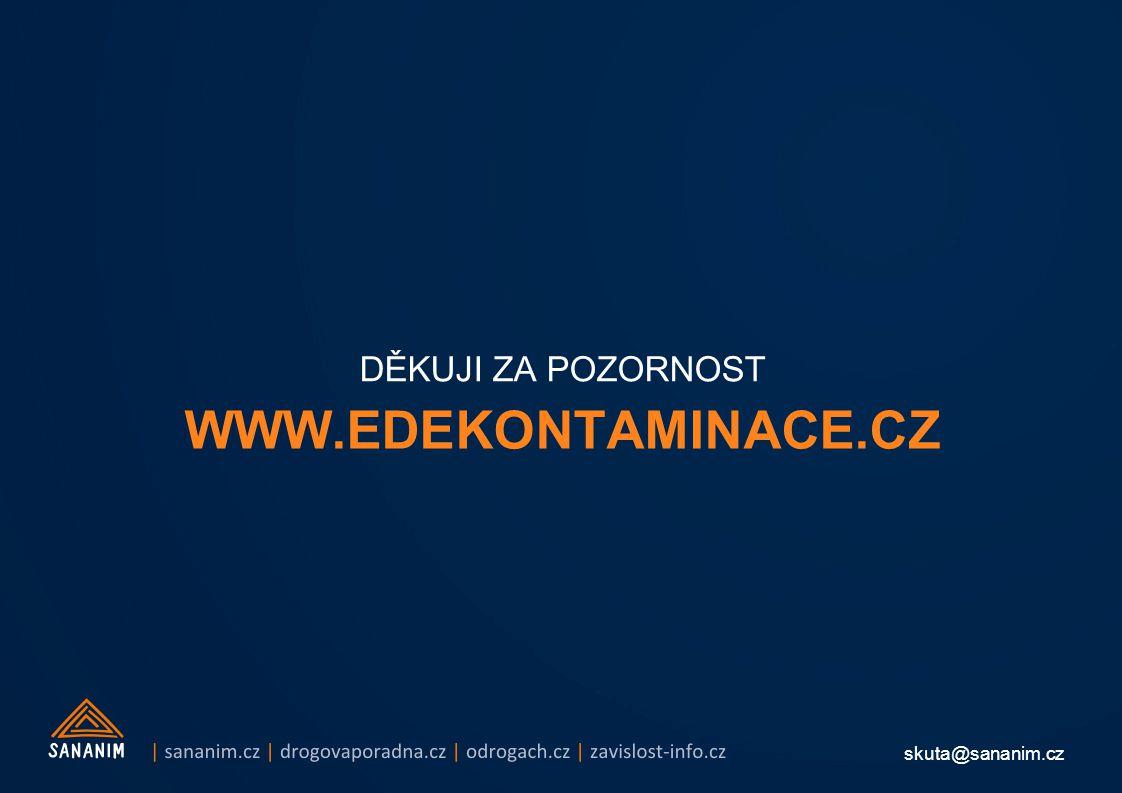 skuta@sananim.cz WWW.EDEKONTAMINACE.CZ DĚKUJI ZA POZORNOST