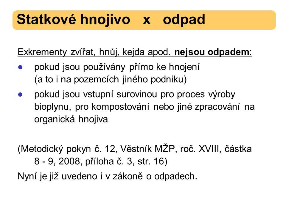 Nové body ve vyhlášce o skladování a způsobu používání hnojiv (původně č.