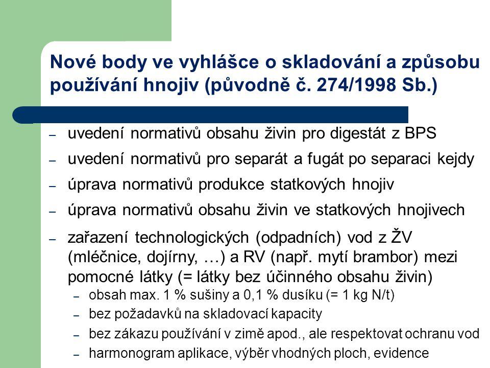 – možnost uložení cukrovarské šámy (max.24 měsíců) a mletých vápenců (max.