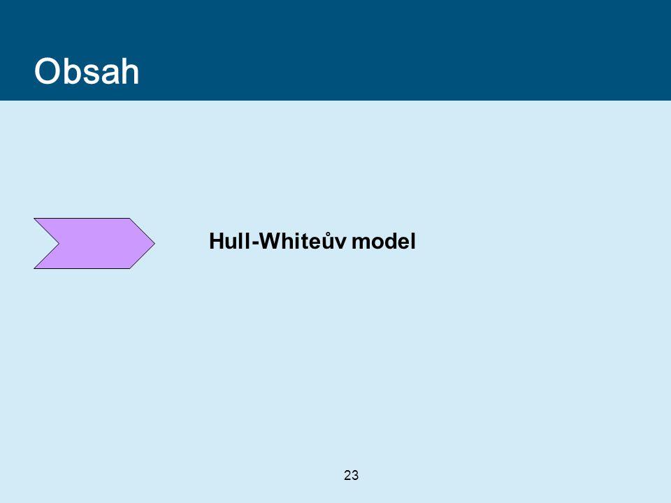 23 Obsah Hull-Whiteův model