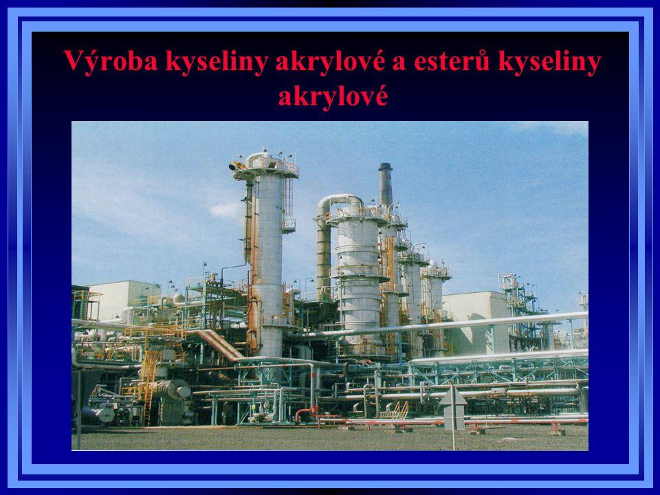 Polymerace kyseliny akrylové a esterů kyseliny akrylové K polymeraci čisté koncentrované kyseliny akrylové o koncentraci min.